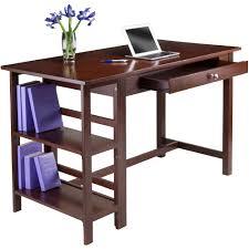 Walmart Com Computer Desk by Velda Writing Desk With 2 Shelves Walnut Walmart Com