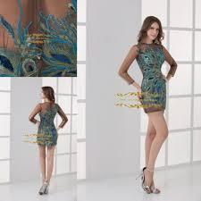prom dresses peacock print best dressed