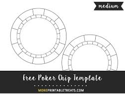 free poker chip template medium size shapes and templates