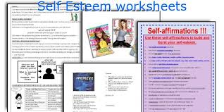 english teaching worksheets self esteem