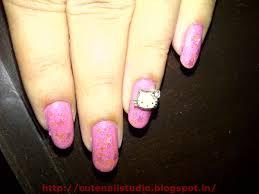 cute nails pink hello kitty nail art