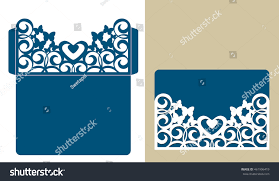 wedding wishes envelope layout congratulatory envelope butterfly pattern template stock