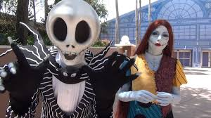 jack skellington and sally meet at epcot in advance of mickey u0027s