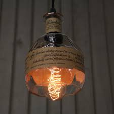 Recycled Light Fixtures Blanton U0027s Bottle Pendant Light Upcycled Industrial Glass