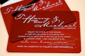 Red And Black Wedding Invitations Tiffany Michael Red Plexiglass Wedding Invitations Gourmet