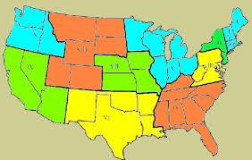fema region map nixon s federal regional councils fema and epa regions