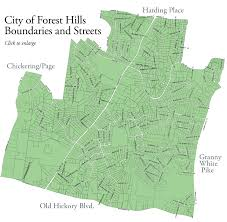 Map Of Nashville Tn Welcome To The City Of Forest Hills Tennessee