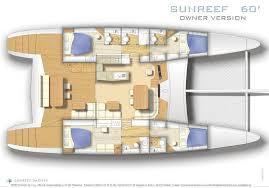 Catamaran Floor Plans Catamaran Sunreef 62