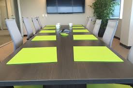 Leather Placemats For Conference Table Lime Green Conference Room Accessories The Office Inc