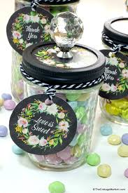 Mason Jar Party Favors Diy Candy Mason Jars Great Favors Free Printables The Cottage