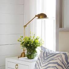 blue nightstand with brass pulls design ideas