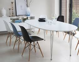 eames inspired dining table ellie white extending and eames style dining set from danetti