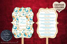 diy wedding ceremony program fans indian wedding program fan diy printable printed custom