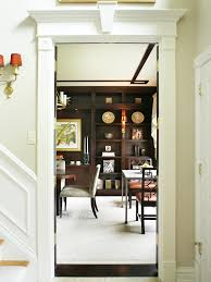 glamorous dining rooms seen through the entryway this glamorous dining room showcases
