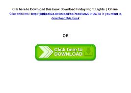 friday night lights book online download friday night lights online