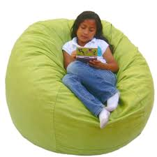 furniture contemporary small sized light green bean bag chair by