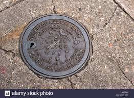 new orleans water meter a water meter box cover in new orleans louisiana usa stock photo