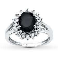 onyx engagement rings onyx ring 1 15 ct tw diamonds 10k white gold