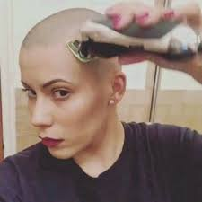 womens buzzed and bold haircuts pin by philip gapske on razor shave pinterest bald women