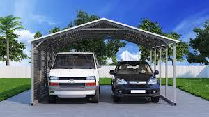 20x21 two car metal carport