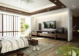 Bedroom Designer 3d Modern Bedroom Interior 3d Rendering Stock Photo Picture And