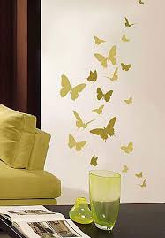 Floral Wall Stencils For Bedrooms Butterfly Stencils For Nursery Walls Easy Reusable Wall Art