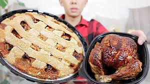 Apple Pie Thanksgiving Thanksgiving Feast Mukbang Turkey Apple Pie U0026 More Eating