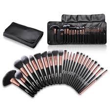 ovonni professional makeup brush kit set of 24 cosmetic make up