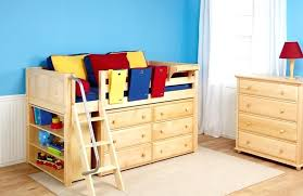 childrens loft bed with stairs toddler storage designing home