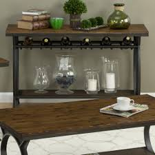 sofa table with wine rack jofran harpers press harper s press sofa table with wine rack