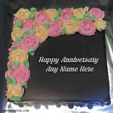 anniversary cake wedding anniversary cakes with name