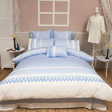 light blue duvet cover set queen king size bedding set 100 egyptian cotton s
