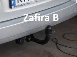 how to fit install towbar vauxhall opel zafira b hak