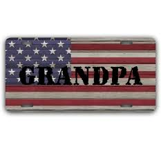 christmas gifts for grandpa rugged usa flag front license plate