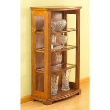 free bow front display case woodworking plan