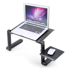 Lap Desk With Mouse Pad Buy Adjustable Aluminum Laptop Table Stand With Cooling Pad In