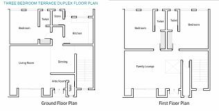 nab floor plan three bedroom terrace duplex jam nab estate