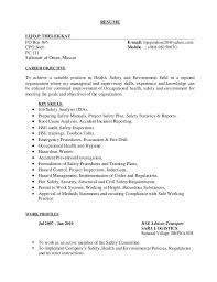 Industrial Engineer Sample Resume by Ehs Resume Resume Cv Cover Letter