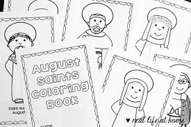 Free Printable Saints Coloring Book For August Saints Colouring Pages