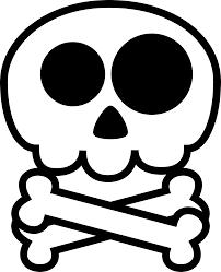 Halloween Skeleton Cartoon Sleleton Clipart Skeleton Face Pencil And In Color Sleleton