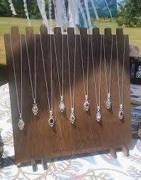 necklace display stand images Necklace display w custom logo 9 necklaces multi notch wooden jpg