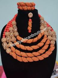 coral bead necklace images Sale special design 4 role coral necklace set included 2 row jpg