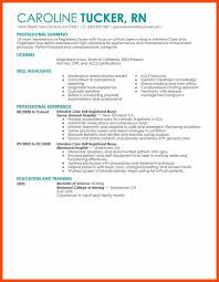Critical Care Rn Resume Rn Resume Sample Program Format