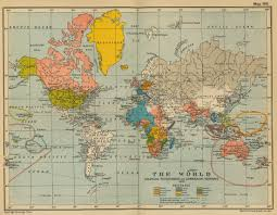 Wold Map Map 1910