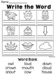 ou and ow worksheets u0026 activities no prep literacy stations
