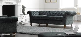 Belvedere  Seater Velvet Chesterfield Sofa SofaSofa SofaSofa - Chesterfield sofa uk