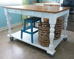 folding kitchen island work table how to turn a table into a rolling island rolling island