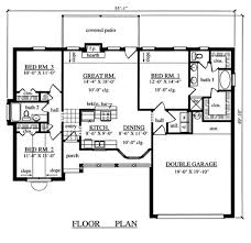 three bedroom two bath house plans 3 bedroom 2 bathroom 1 garage house plans adhome
