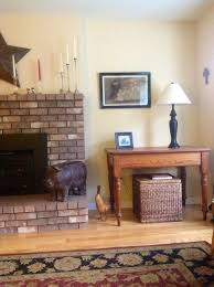 Remove Brick Fireplace by Remove Hearth From Fireplace U0026 Repaint Brick