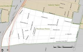 New Orleans Parish Map by The Warehouse District Historic District Is Established Nola